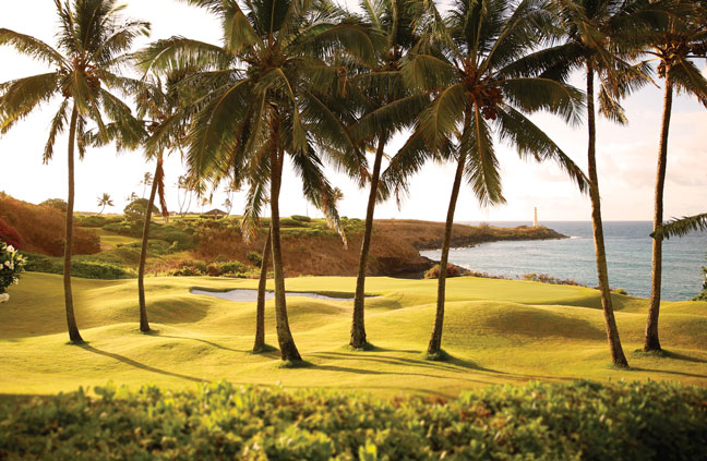 playing golf on kauai beach resort