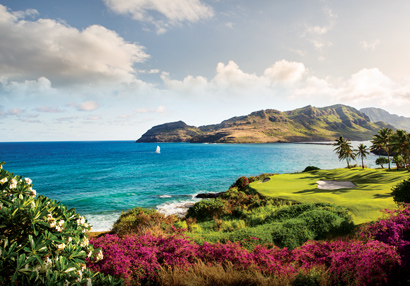 Oceanfront golf course, Kauai.