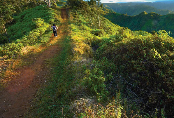 Sunset Kauai hiking photo.