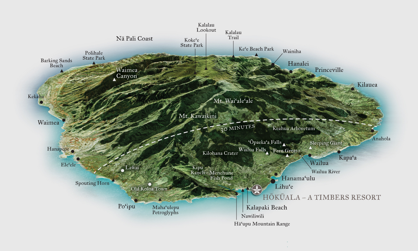 at the heart of it all. hokuala kauai  luxury residences in hawaii